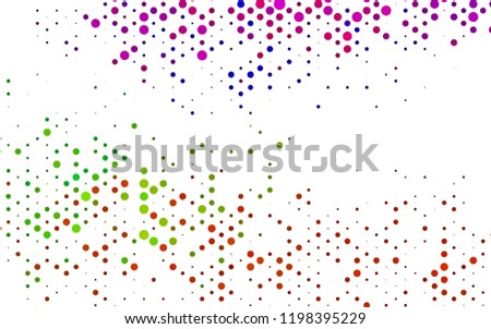 Dark Multicolor, Rainbow vector backdrop with dots, spots. Blurred bubbles on abstract backdrop with colorful gradient. Pattern of water, rain drops. - Shutterstock ID 1198395229