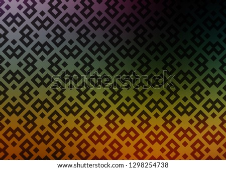Dark Multicolor, Rainbow vector background with rectangles. Rectangles on abstract background with colorful gradient. Best design for your ad, poster, banner.