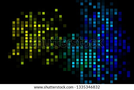 Dark Multicolor, Rainbow vector background with rectangles. Rectangles on abstract background with colorful gradient. Pattern can be used for websites.