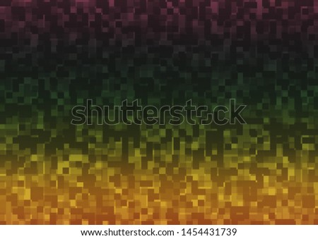 Dark Multicolor, Rainbow vector background with rectangles. Rectangles on abstract background with colorful gradient. The template can be used as a background.