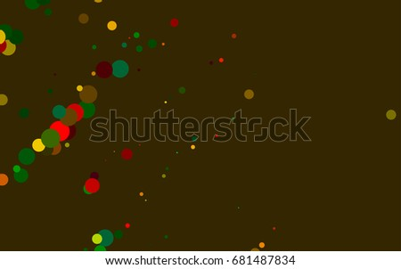 Dark Multicolor, Rainbow vector banner with circles, spheres. Abstract spots. Background of Art bubbles in halftone style with colored gradient. #681487834