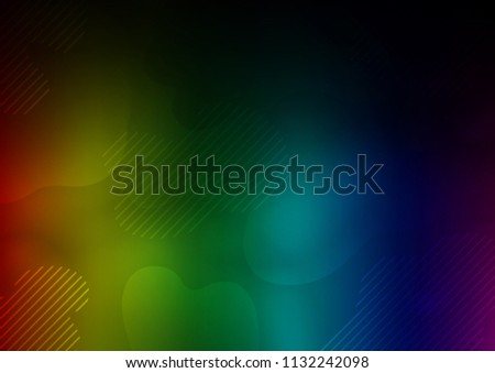 Stock Photo Dark Multicolor, Rainbow vector cover with long lines. Lines on blurred abstract background with gradient. Smart design for your business advert.