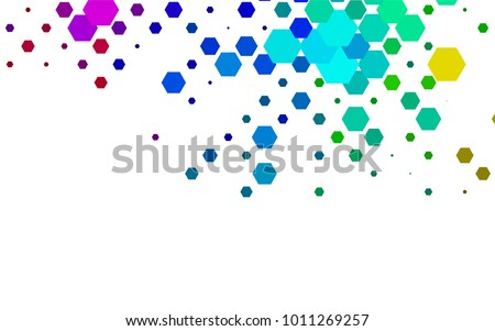 Dark Multicolor, Rainbow vector pattern. Hexagonal template. Geometric sample. Repeating hexagon shapes. Brand-New texture for your design. Pattern can be used for background