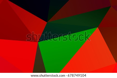 Dark Multicolor, Rainbow vector polygonal background. Geometric illustration in Origami style with gradient.  The best triangular design for your business.