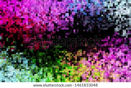 Dark Multicolor, Rainbow vector template with crystals, rectangles. Rectangles on abstract background with colorful gradient. Pattern can be used for websites.