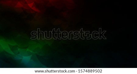 Dark Multicolor vector backdrop with lines, rhombus. Lines, rhombus with colorful gradient. Best design for posters, banners.