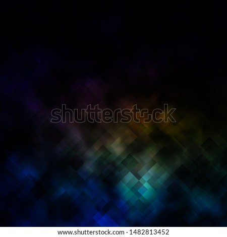 Dark Multicolor vector background in polygonal style. Rectangles with colorful gradient on abstract background. Pattern for commercials, ads.