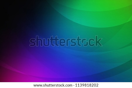 Dark Multicolor vector pattern with bent lines. An elegant bright illustration with gradient. Brand-new design for your ads, poster, banner. - Shutterstock ID 1139818202