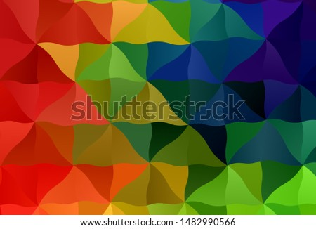 Dark Multicolor vector polygon abstract backdrop. A sample with polygonal shapes. Polygonal design for your web site.