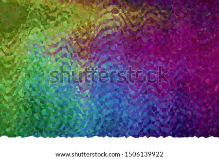 Dark Multicolor vector shining triangular background. Shining colorful illustration with triangles. Textured pattern for your backgrounds.