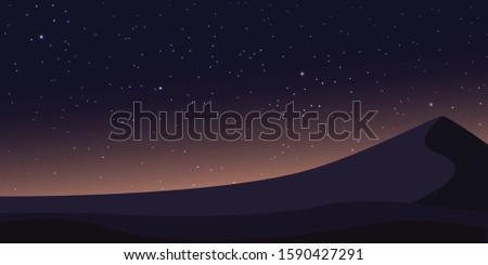 dark night sky at the desert