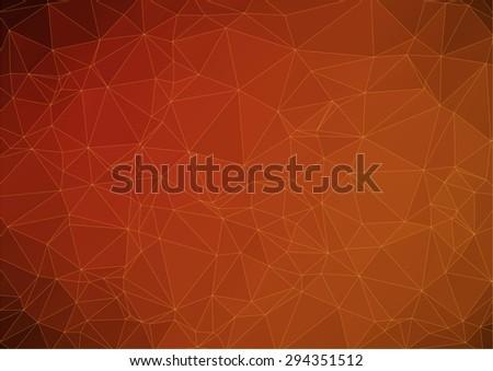 dark orange abstract polygonal