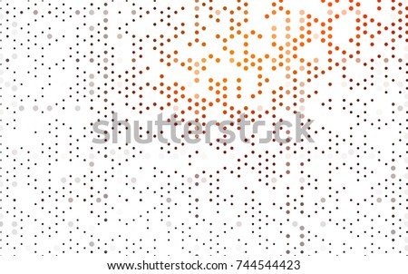 Dark Orange vector abstract pattern with circles. Geometry template for your business design. Background with colored spheres.