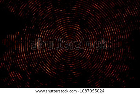 Stock Photo Dark Orange vector background with curved circles. Colorful illustration in abstract marble style with gradient. A completely new template for your business design.