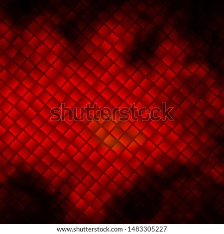 Dark Orange vector background with rectangles. New abstract illustration with rectangular shapes. Pattern for commercials, ads.