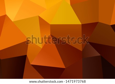 Dark Orange vector background with rectangles. Rectangles on abstract background with colorful gradient. Pattern for busines ad, booklets, leaflets