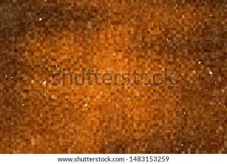 Dark Orange vector background with rectangles. Rectangles on abstract background with colorful gradient. Best design for your ad, poster, banner.
