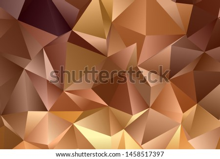 Dark Orange vector background with triangles. Triangles on abstract background with colorful gradient. Pattern for booklets, leaflets