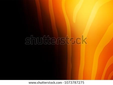 dark orange vector doodle
