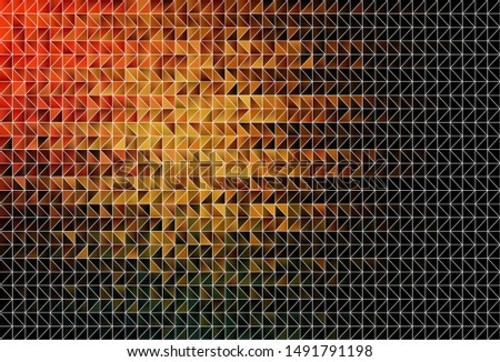 Dark Orange vector polygon abstract layout. A completely new color illustration in a polygonal style. Polygonal design for your web site.