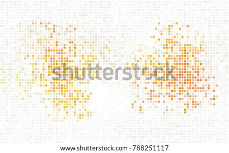 Dark Orange vector polygonal illustration, which consist of rectangles. Rectangular pattern for your business design. Geometric background in Origami style with gradient.