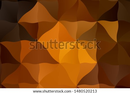Dark Orange vector shining triangular background. Shining colorful illustration with triangles. Brand new style for your business design.