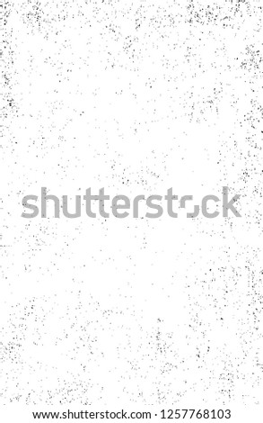 Dark Paint Weathered Texture. Abstract Dirty Creative Design Backdrop Element. Black And White Distressed Grunge Vector Overlay Template.  #1257768103