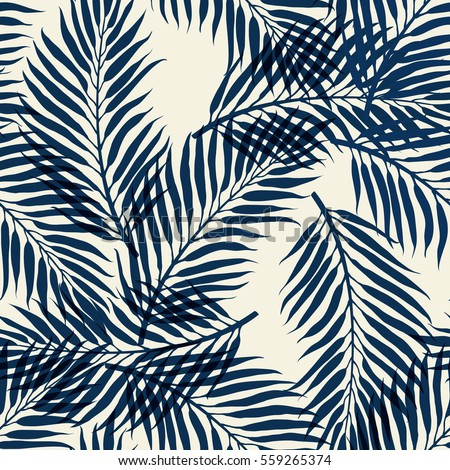 dark palm tree leaves on white
