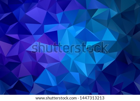 Dark Pink, Blue vector abstract polygonal background. A sample with polygonal shapes. Polygonal design for your web site.