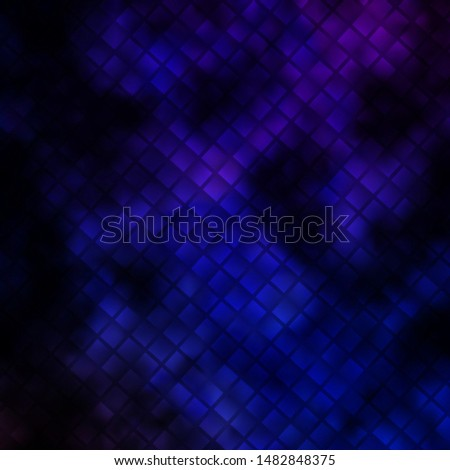 Dark Pink, Blue vector background in polygonal style. Colorful illustration with gradient rectangles and squares. Pattern for commercials, ads.