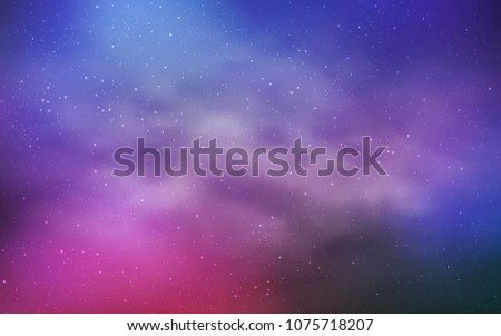 Dark Pink, Blue vector layout with cosmic stars. Modern abstract illustration with Big Dipper stars. Pattern for astronomy websites. #1075718207