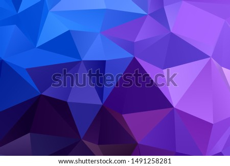 Dark Pink, Blue vector shining triangular background. Shining polygonal illustration, which consist of triangles. A new texture for your web site.