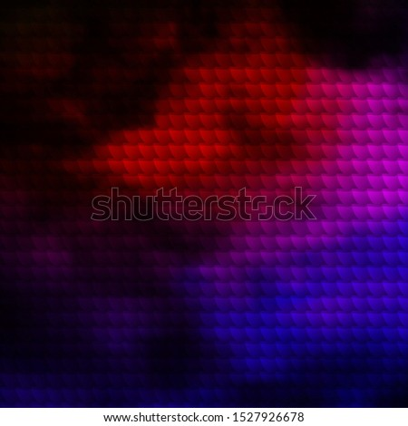 Dark Pink, Red vector layout with lines and curved shapes. Illustration with a set of gradient rectangles. Pattern for commercials, ads.