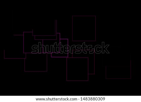 Dark Pink vector layout with lines, rectangles. Rectangles on abstract background with colorful gradient. The template can be used as a background.