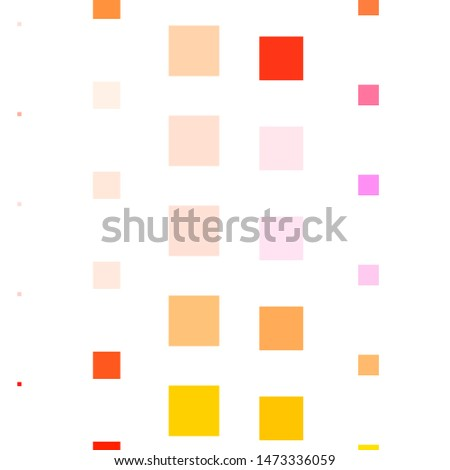 Dark Pink, Yellow vector backdrop with rectangles. Colorful illustration with gradient rectangles and squares. Pattern for commercials, ads.
