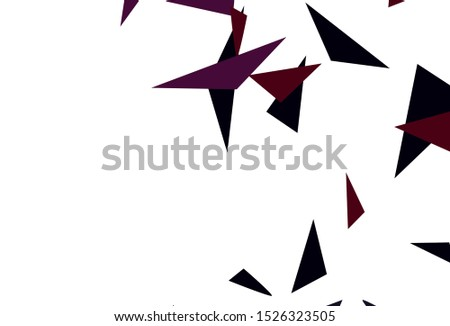 Dark Pink, Yellow vector template with crystals, triangles. Triangles on abstract background with colorful gradient. Smart design for your adverts.