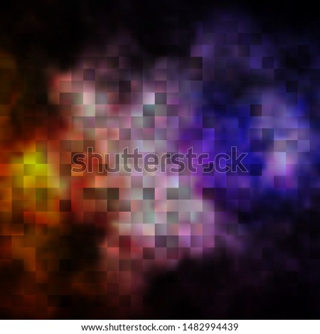 Dark Pink, Yellow vector template with rectangles. Rectangles with colorful gradient on abstract background. Pattern for commercials, ads.