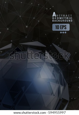 dark polygonal abstract