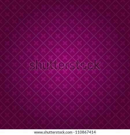 Dark Purple Blurred Geometric Seamless Background. Vector Pattern