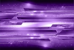 Dark purple color Light Abstract Technology background for computer graphic website internet and business. circuit. vector illustration. infographics. motion move blur.neon. pixel.