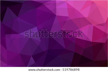 Dark purple, pink abstract mosaic pattern. Colorful abstract illustration with gradient. The elegant pattern can be used as part of a brand book.