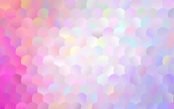 Dark Purple, Pink vector banner with circles, spheres. Abstract spots. Background of Art bubbles in halftone style with colored gradient.