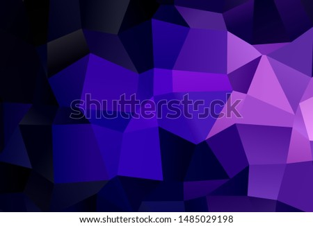 Dark Purple, Pink vector layout with lines, rectangles. Rectangles on abstract background with colorful gradient. Smart design for your business advert.