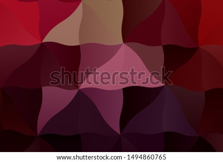 Dark Purple, Pink vector shining triangular background. Shining colorful illustration with triangles. Pattern for a brand book's backdrop.