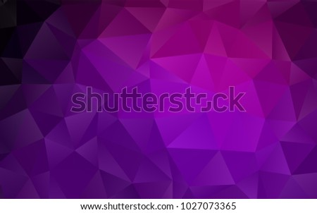 Dark Purple vector abstract polygonal background. Colorful illustration in abstract style with gradient. The textured pattern can be used for background.