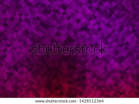 Dark Purple vector background with rectangles. Rectangles on abstract background with colorful gradient. Best design for your ad, poster, banner.