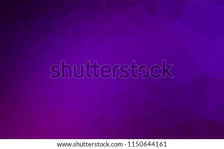 Dark Purple vector shining hexagonal background. Shining illustration, which consist of triangles. The textured pattern can be used for background.
