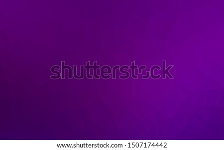 Dark Purple vector shining triangular background. Shining colored illustration in a Brand new style. New texture for your design.