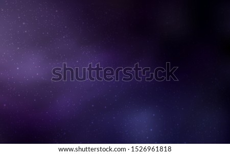 Dark Purple vector template with space stars. Space stars on blurred abstract background with gradient. Pattern for astronomy websites.