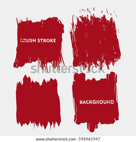 dark red brush stroke frame set.flat abstract background for text. design element. boxes shape #596961947